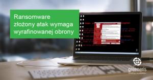 Ransomware złożony atak