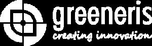 greeneris logo poziom bialy